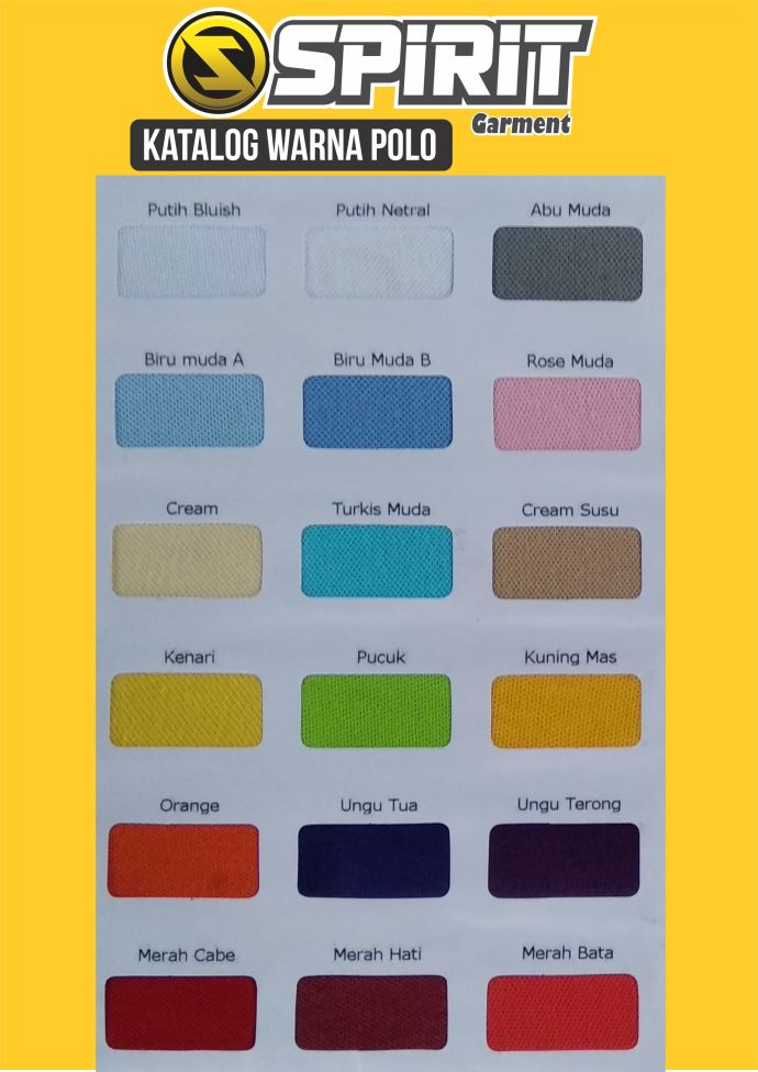 katalog warna POLO 1