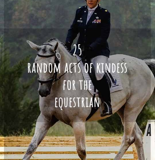 25 Random Acts of Kindness Ideas for Equestrians