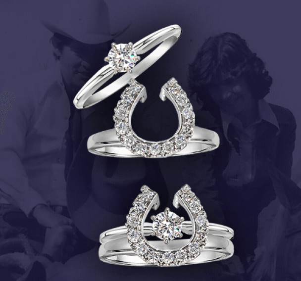 Gorgeous horseshoe diamond Equestrian Wedding Ring by Bennett Fine Jewelry. I want it!!