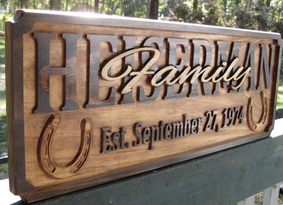 This personalized wood sign will be the perfect gift for a couple I know getting married!