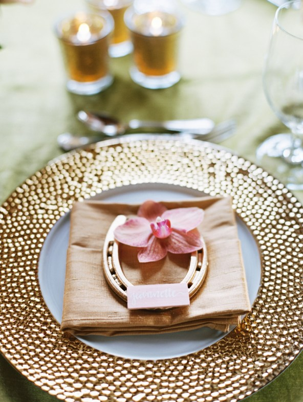Elegant Equestrian table setting, I need to do this for my next Derby party!