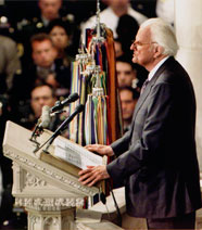 September 7, 2011 - Billy Graham's remarks given at the National Cathedral in Washington, D.C., on Friday, September 14, 2001, brought hope and healing to the shocked nation.