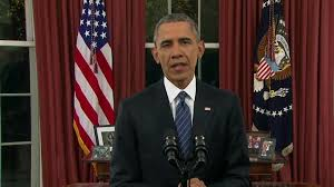 POTUS Obama gave speech to nation 12-06-15 in which he restated his views about recent California Terrorist Shootings, US response to continuing ISIS aggression, and related issues.