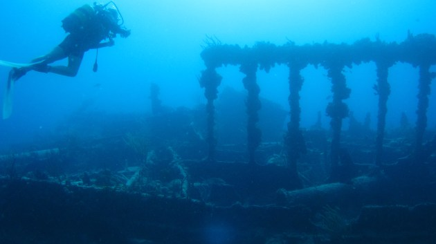 The Wreck of the Rhone, Salt Island, BVIs