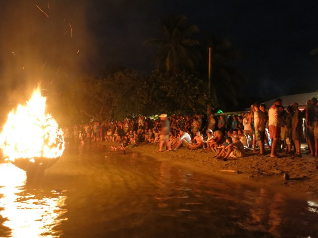 Full Moon Party crowd on the beach
