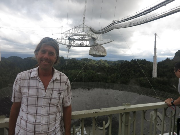 Cain at the worlds largest Radio Telescope in Puerto Rico