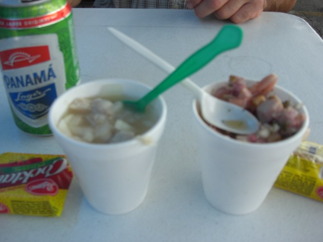 3-cups of ceviche