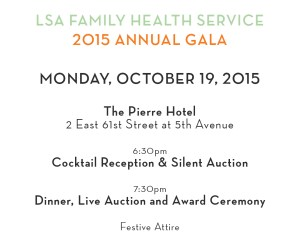 Monday, October 19th, at the Pierre Hotel