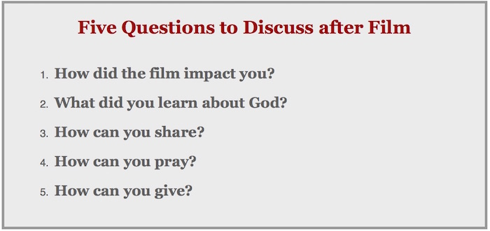 Five questions to discuss after film