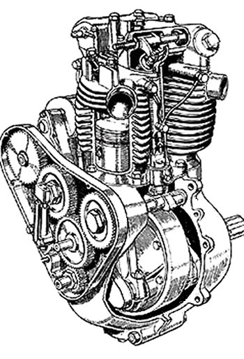 Triumph Speed Twin cutaway