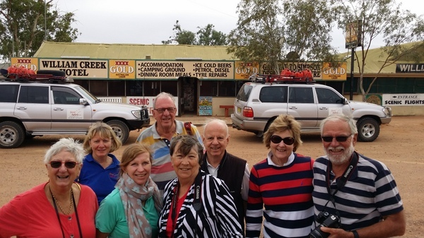 Happy Travellers on Lake Eyre Tours Flights