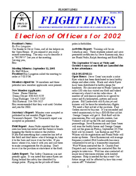 Flight Lines (October-2001)