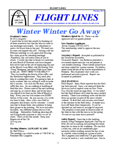 Flight Lines (February-2001)
