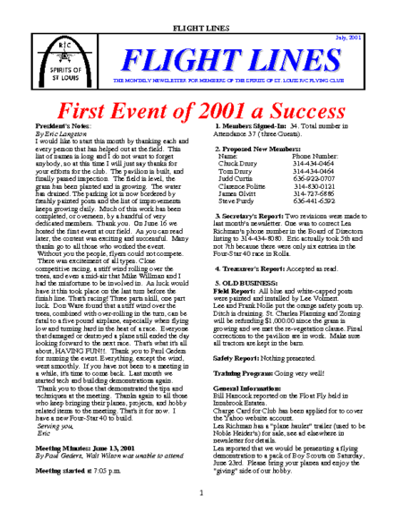 Flight Lines (July-2001)