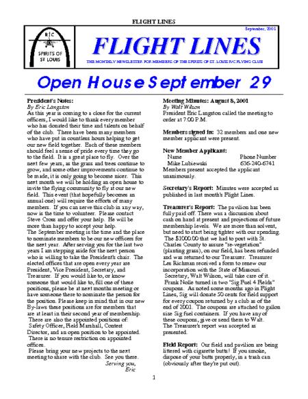 Flight Lines (September-2001)