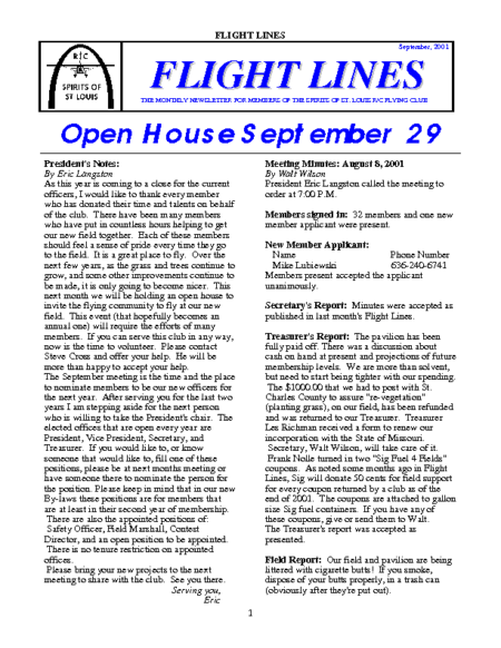 Flight Lines (September-2001)