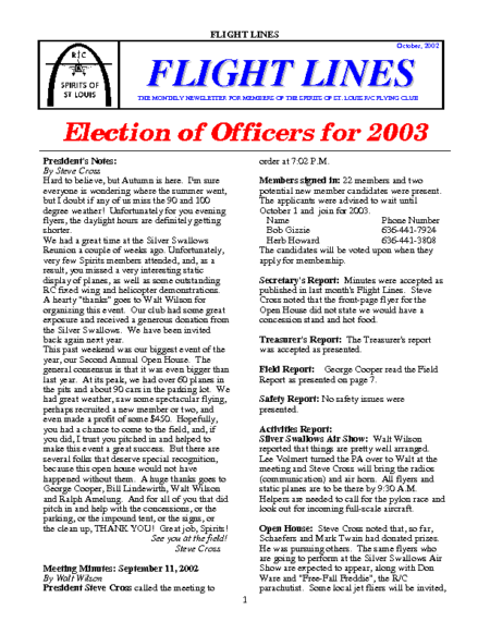 Flight Lines (October-2002)