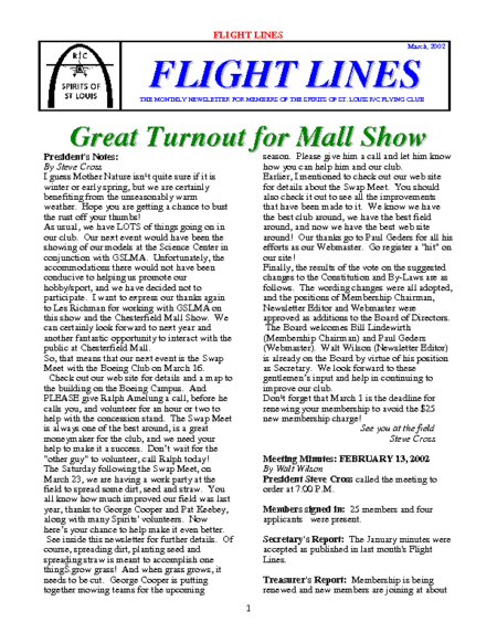 Flight Lines (March-2002)