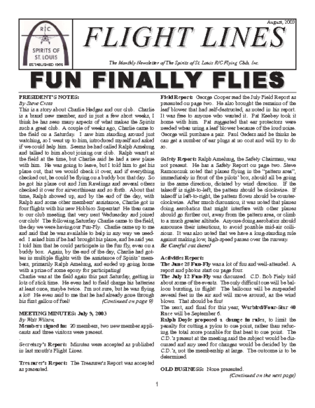 Flight Lines (August-2003)