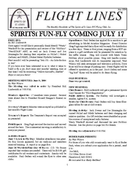Flight Lines (July-2004)