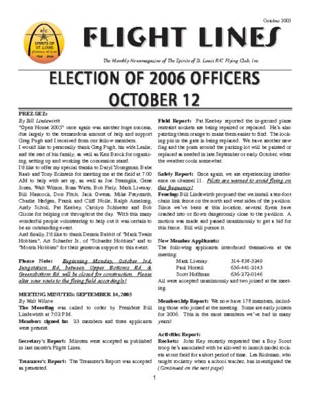 Flight Lines (October-2005)