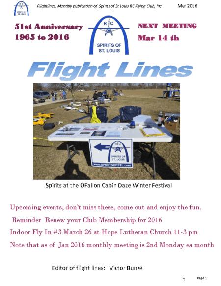 Flight Lines (March-2016)