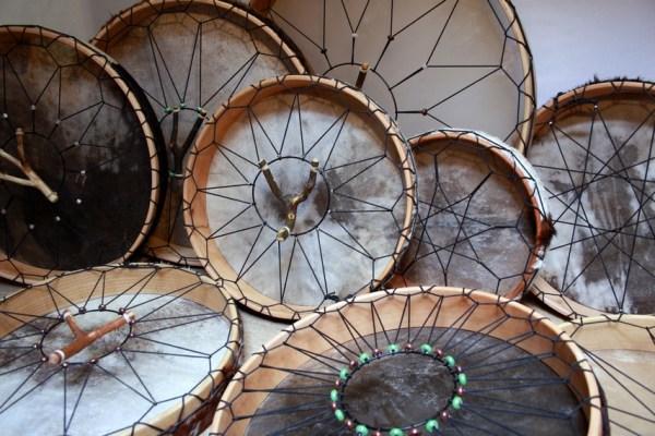 unsere Rahmentrommel Vielfalt, mit Perlen zum spannen und Stimmen