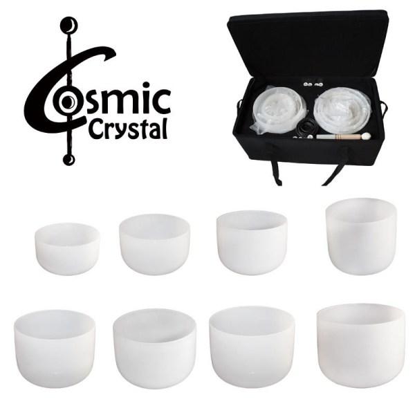 Kristall Klangschalen - Crystalbowl Set