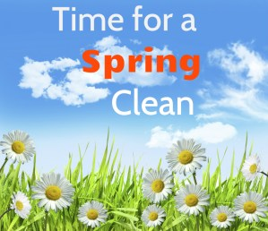 Spring clean now! It's good for your health.