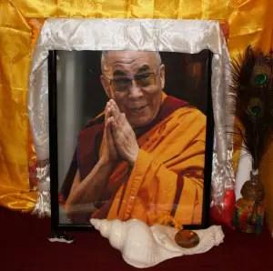 Image of the Dalai Lama at DGI (Lori Erickson photo)