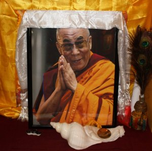 Image of the Dalai Lama at DGI (Lori Erickson photo)