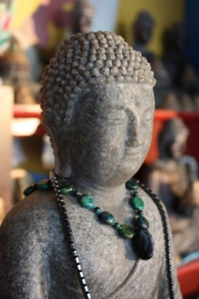 Buddha at Kumbum Chamtse Ling in Bloomington, Indiana (Lori Erickson photo)