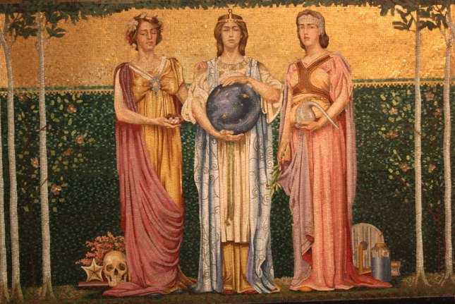 Mosaics at Sage Chapel at Cornell University (Bob Sessions photo)