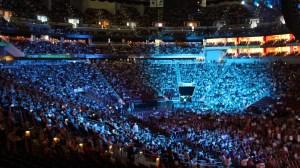 A crowd of 15,000 gathered to see the Dalai Lama in Louisville. (Lori Erickson photo)
