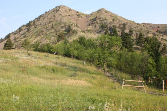 Entrance to the hiking path on Bear Butte in South Dakota (Bob Sessions photo).