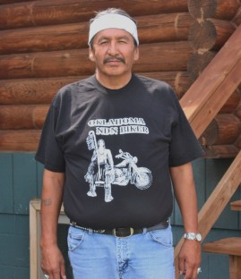 Corey Hair Shirt is caretaker of Bear Butte Lodge (Bob Sessions photo).