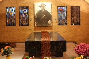 Father Damien's remains are housed in the crypt of Sint-Antoniuskerk in Leuven, Belgium (Bob Sessions photo)