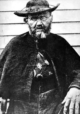 Father Damien near the end of his life (image from Father Damien's shrine)