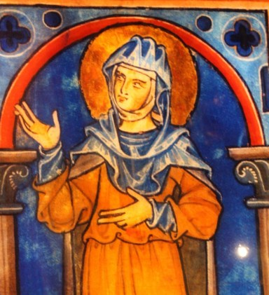 An image of Hildegard from St. Rochus Chapel in Bingen (Bob Sessions photo)