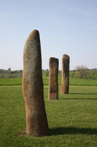 The stones that make up the circle are buried so that about half of their length is below ground (Lori Erickson photo).