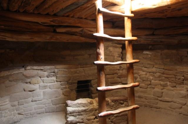 light entering kiva, ladder in kiva, kiva as sacred site