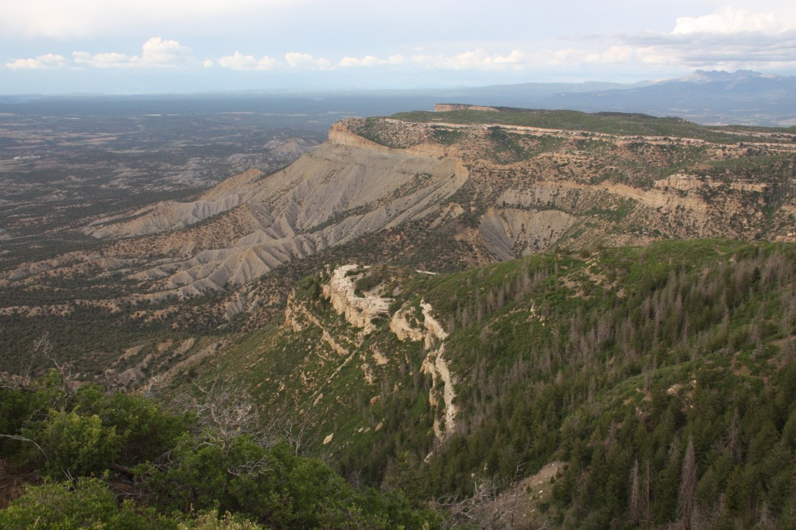 """Mesa Verde is Spanish for """"green table,"""" a reference to the verdant tops of its mesas (Bob Sessions photo)."""