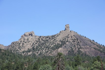 Chimney Rock National Monument is visible from a great distance. (Bob Sessions photo)