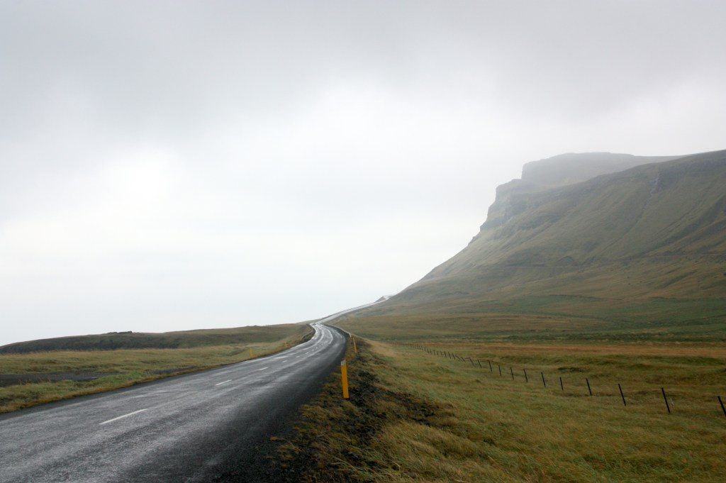 road leading into the mist
