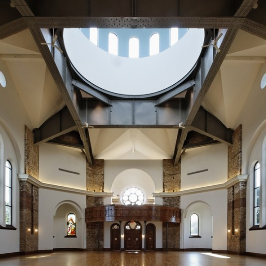 The main hall of the Saints Center is filled with light from the windows that line its dome. (photo courtesy of the Saints Center)