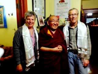 Lori Erickson, Arjia Rinpoche, and Bob Sessions (photo by Lisa Morrison)