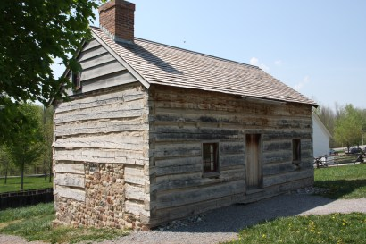 This log cabin was rebuilt on the foundation of the original Joseph Smith Sr. house. (photo by Bob Sessions)