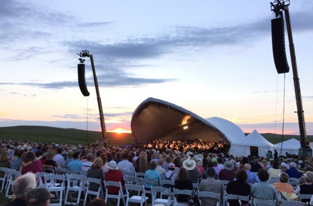 As the Symphony in the Flint Hills came to an end, the sun put on its own show. (photo by Bob Sessions)