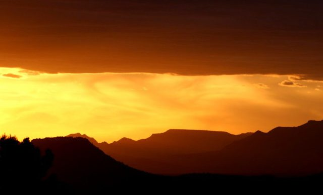 The view of the sunset from Airport Vortex in Sedona was stunning. (Bob Sessions photo)