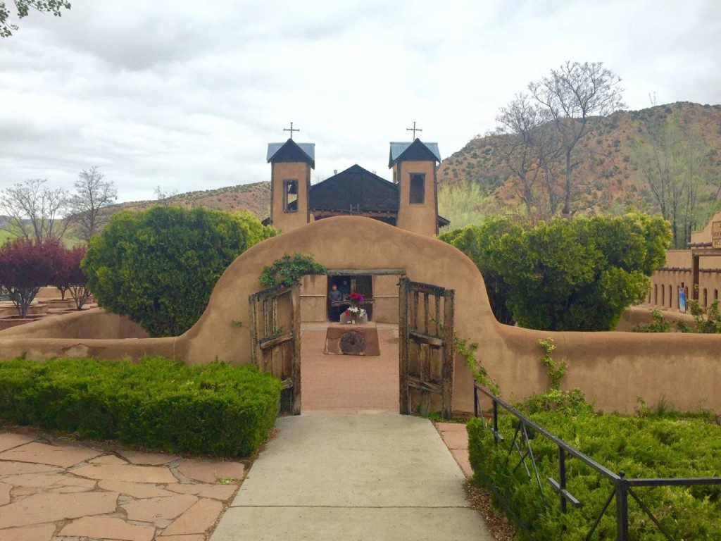 Entrance gate to Chimayo, New Mexico